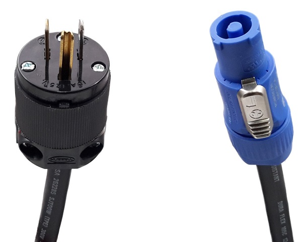 Adapter - Edison Male to powerCON A 3'